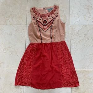 Flying Tomato Sz M Salmon/Pink/Red Dress Like New